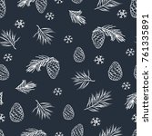 winter seamless pattern with... | Shutterstock .eps vector #761335891