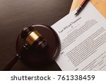 last will and testament on... | Shutterstock . vector #761338459