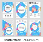 abstract vector layout... | Shutterstock .eps vector #761340874