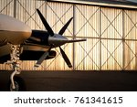 airplane propeller with hanger... | Shutterstock . vector #761341615