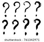 brush strokes  hand drawn... | Shutterstock .eps vector #761342971