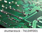 close up electronic components  ... | Shutterstock . vector #761349301