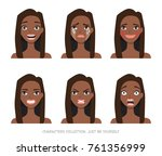 set of emotions and gestures to ... | Shutterstock .eps vector #761356999