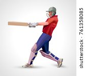 abstract cricket player... | Shutterstock .eps vector #761358085