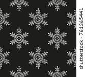 snowflake winter design season... | Shutterstock .eps vector #761365441