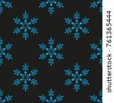 snowflake winter design season... | Shutterstock .eps vector #761365444