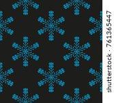 snowflake winter design season... | Shutterstock .eps vector #761365447