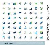 set finance  insurance ... | Shutterstock .eps vector #761366905