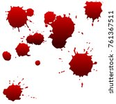 set of realistic bloody drops... | Shutterstock .eps vector #761367511