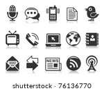 communication icons | Shutterstock .eps vector #76136770