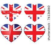 Set Of Four Vector Union Jack...