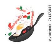 cooking process vector... | Shutterstock .eps vector #761373859
