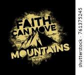 bible lettering. christian art. ... | Shutterstock .eps vector #761375245