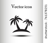vector icon palm tree    Shutterstock .eps vector #761378251