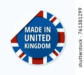 made in united kingdom of great ... | Shutterstock .eps vector #761381299