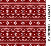 christmas seamless pattern of... | Shutterstock .eps vector #761382595