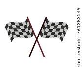 racing flags symbol | Shutterstock .eps vector #761383549