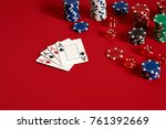 casino gambling poker equipment ... | Shutterstock . vector #761392669