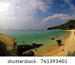 landscape sea and beach at koh... | Shutterstock . vector #761393401