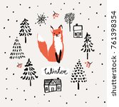 xmas greeting card template... | Shutterstock .eps vector #761398354