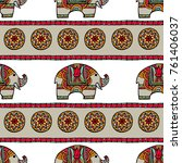 vintage graphic vector indian... | Shutterstock .eps vector #761406037