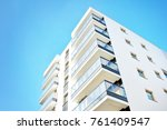 modern apartment buildings on a ... | Shutterstock . vector #761409547