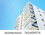 modern apartment buildings on a ... | Shutterstock . vector #761409574