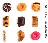 variety of cakes. donuts and... | Shutterstock . vector #76141015
