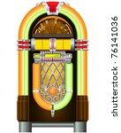 jukebox   automated retro music ... | Shutterstock .eps vector #76141036