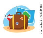 travelling and adventure icon... | Shutterstock .eps vector #761412487