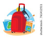 travelling and adventure icon...   Shutterstock .eps vector #761412511