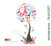 Abstract Colorful Music Tree  ...
