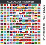 all flags of the world in... | Shutterstock .eps vector #761418229