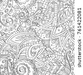 tracery seamless pattern.... | Shutterstock .eps vector #761422081