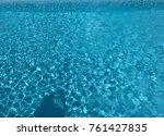 pool water.water texture. | Shutterstock . vector #761427835