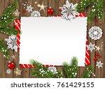 Festive Christmas Card With Fi...