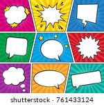 retro comic empty speech... | Shutterstock .eps vector #761433124