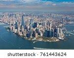aerial view of  manhattan ...   Shutterstock . vector #761443624