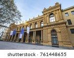 stock exchange market frankfurt ... | Shutterstock . vector #761448655