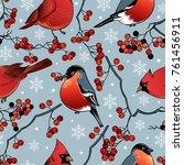 beautiful retro christmas card... | Shutterstock .eps vector #761456911