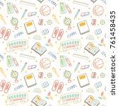 back to school background in...   Shutterstock .eps vector #761458435