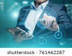 webinar e learning training... | Shutterstock . vector #761462287