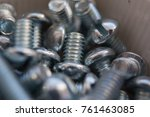 nuts bolts background | Shutterstock . vector #761463085