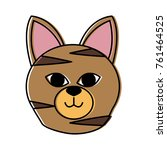 cat head cartoon | Shutterstock .eps vector #761464525