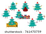 christmas tree character set ... | Shutterstock .eps vector #761470759