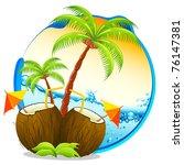Illustration Of Coconut...