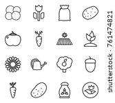 thin line icon set   atom core  ... | Shutterstock .eps vector #761474821