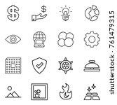 thin line icon set   dollar ... | Shutterstock .eps vector #761479315
