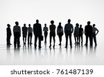 Small photo of Group of Business people look forward