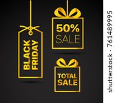 black friday vector labels set. ...